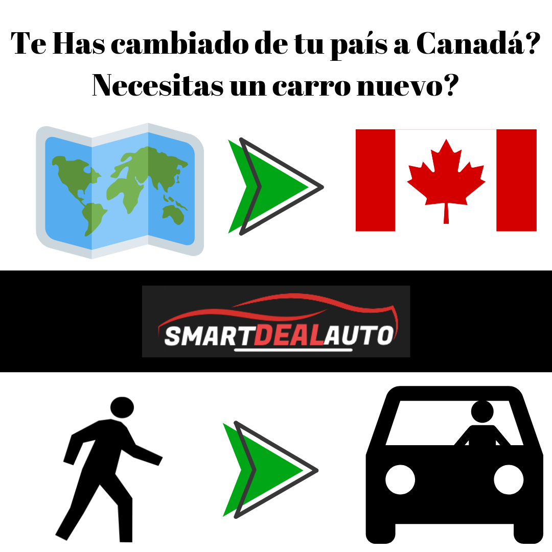 Te Has cambiado de tu país a Canadá? Necesitas un carro nuevo?