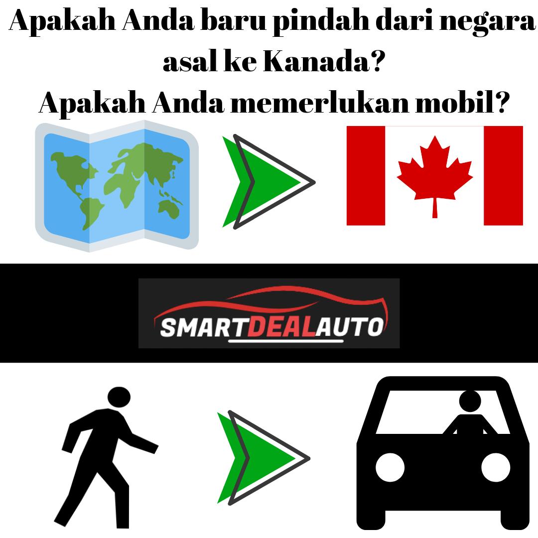 Apakah Anda baru pindah dari negara asal ke Kanada? Apakah Anda memerlukan mobil?