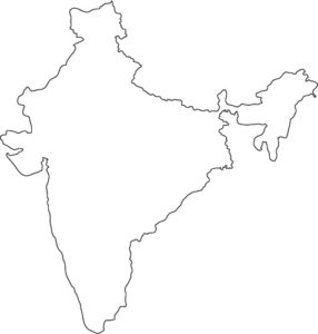 india outline